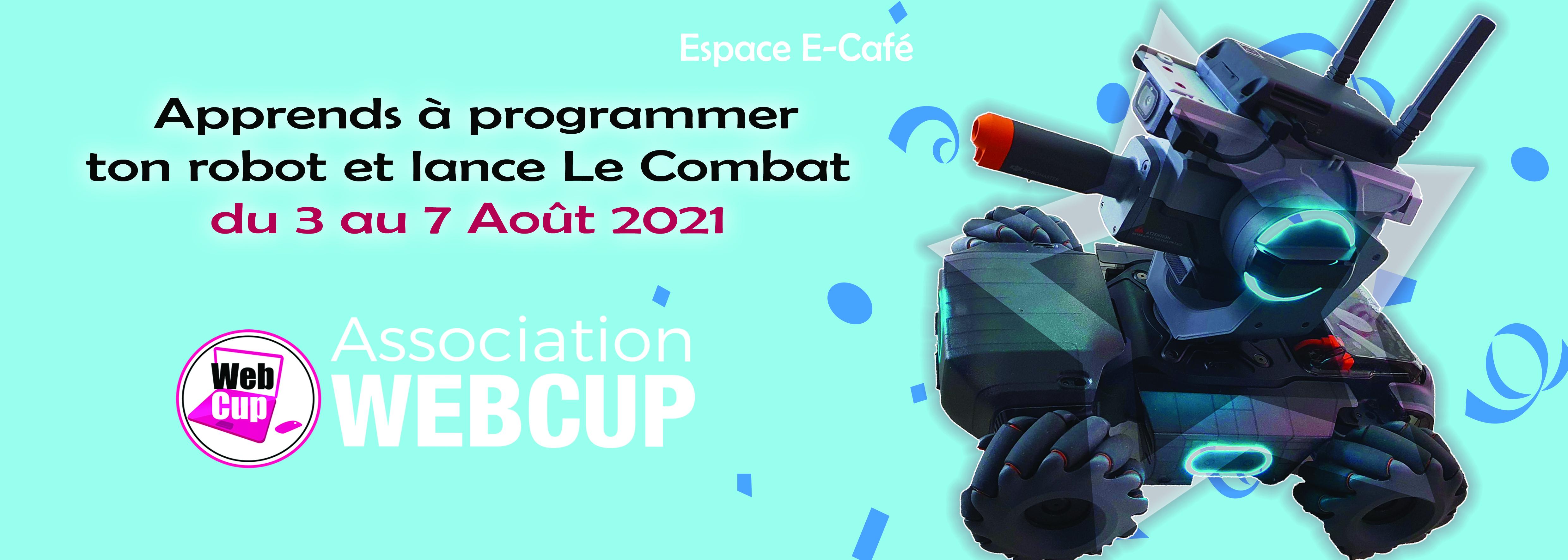 Apprends à programmer ton robot !, avec l'association Webcup |